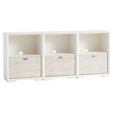 Callum Triple Wide Set, 3 One-Drawer + Feet, Weathered White/ Simply White - Pottery Barn Teen
