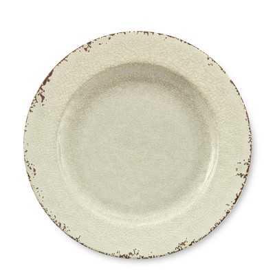 Rustic Melamine Dinner Plates, Set of 4, White - Williams Sonoma