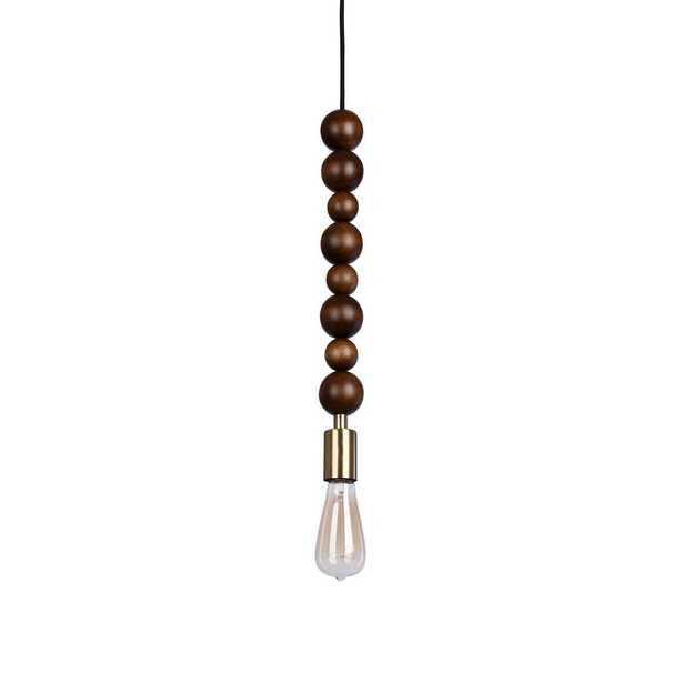 Catalina Lighting 1-Light Wood Finish Beaded Sphere Shaped Swag Pendant - Home Depot