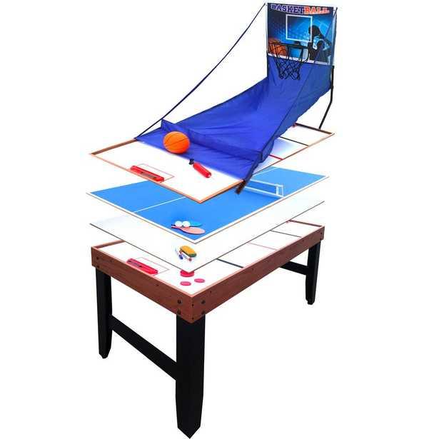 Accelerator 54 in. 4-in-1 Multi-Game Table - Home Depot