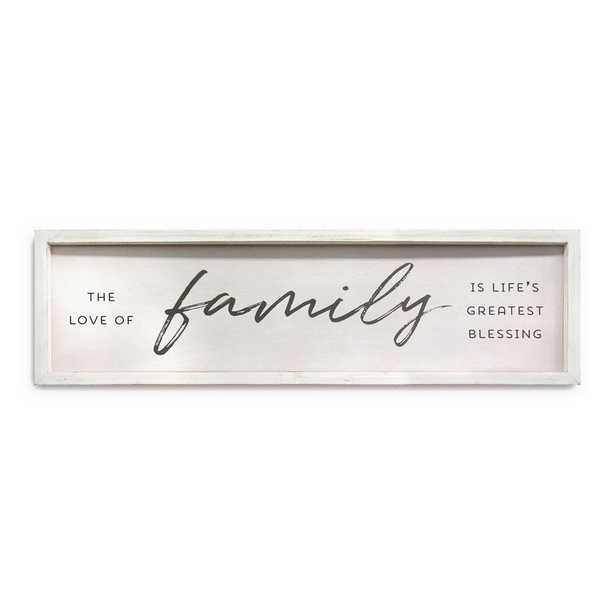Family is Life's Greatest Blessings Wall Art, White/Brown And Black - Home Depot