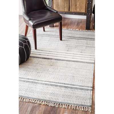 Dunseith Handmade Gray Area Rug 5' x 8' - Wayfair