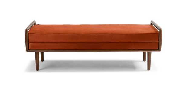 Ansa Persimmon Orange Bench - Article