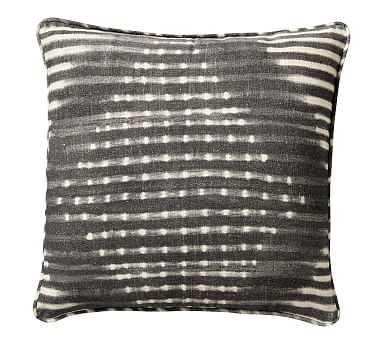 "Shibori Diamond Pillow, Gray, 20"" - Pottery Barn"