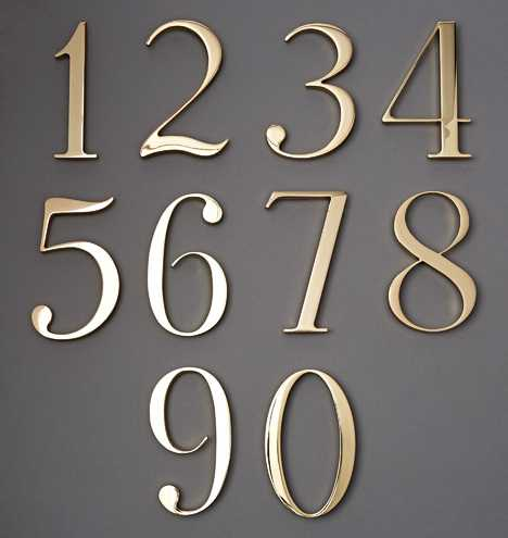 """6"""" Traditional House Numbers - Rejuvenation"""