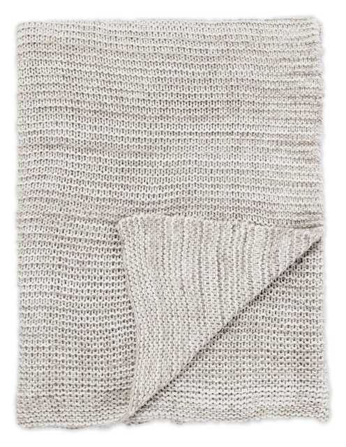 Dryden Gray/ White Solid Throw (50X60) - Collective Weavers