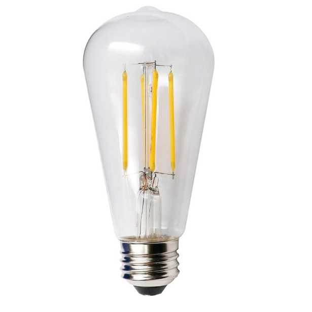 ProLED Filament LED 100-Watt Equivalent Warm White Clear ST19 Dimmable LED Antique Vintage Style E26 Light Bulb - Home Depot