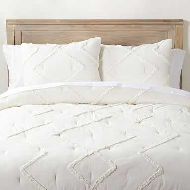 Ashlyn Tufted Comforter, Full/Queen, Ivory - Pottery Barn Teen