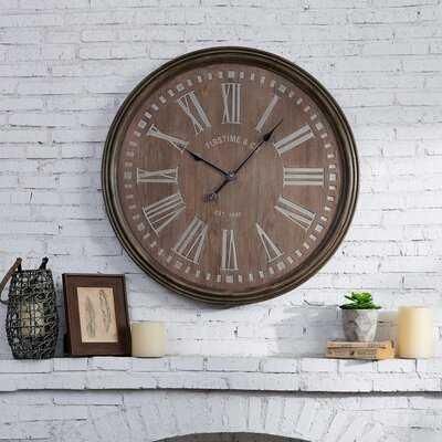 Oversized Elrod 31'' Wall Clock - Wayfair