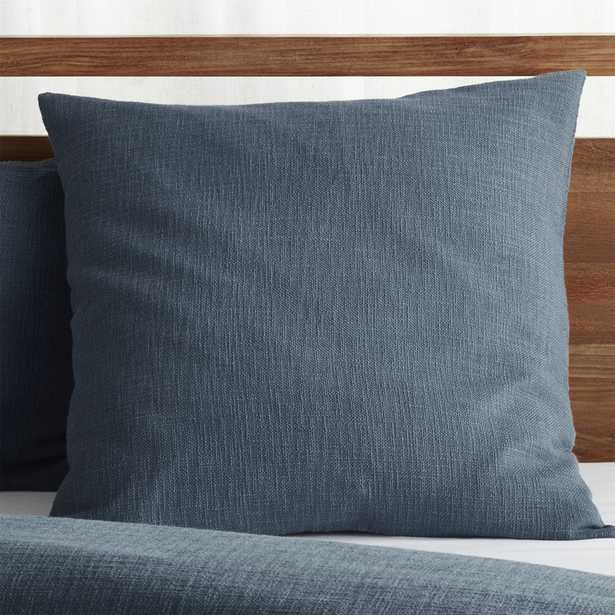 Lindstrom Blue Euro Pillow Sham - Crate and Barrel