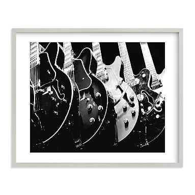 "Guitars, Monochrome Framed Art by Minted(R), 16""x20"", Gray - Pottery Barn Teen"