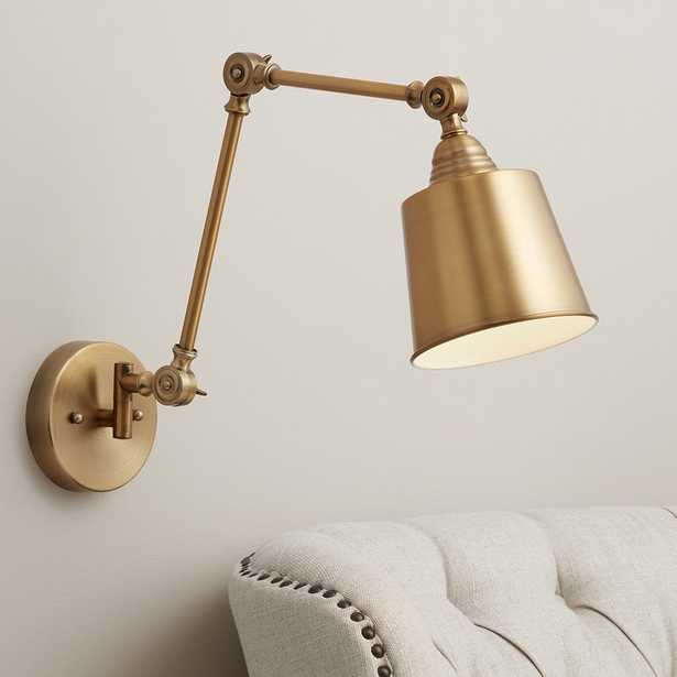 Mendes Antique Brass Down-Light Hardwire Wall Lamp - Style # 35C91 - Lamps Plus