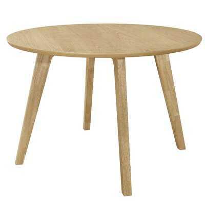 Minjares Round Dining Table Danish Natural - Wayfair