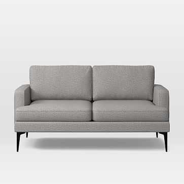 Andes Loveseat, Poly, Deco Weave, Feather Grey, Dark Pewter - West Elm