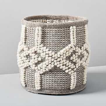 Sweater Knit Basket, Gray - West Elm