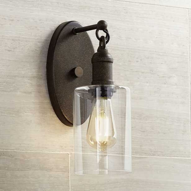 """Cloverly 11 3/4"""" High Bronze LED Wall Sconce - Style # 35E23 - Lamps Plus"""