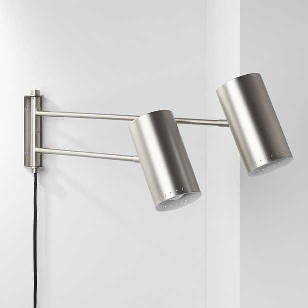 Duo Wall Sconce Nickel - CB2