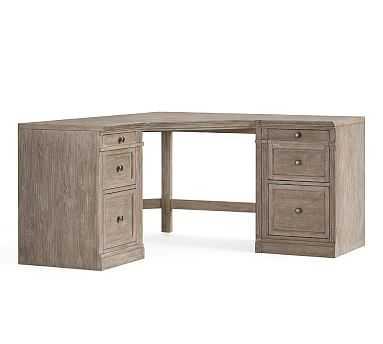 "Livingston Corner Desk, Gray Wash, 57.5"" Wide - Pottery Barn"