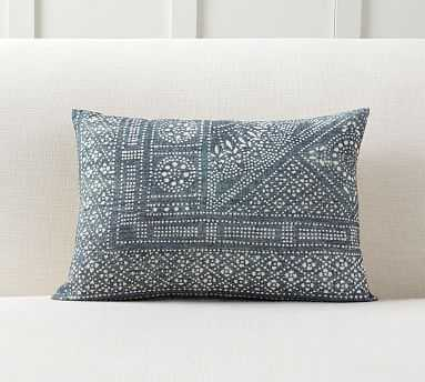 """Hester Print Filled Pillow, 14x20"""", Blue - Pottery Barn"""