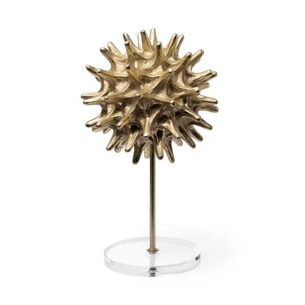Mercana Evening Star II Large Decorative Object, Gold - Home Depot