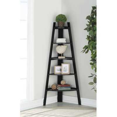 Mari Wood Corner Unit Bookcase - Wayfair
