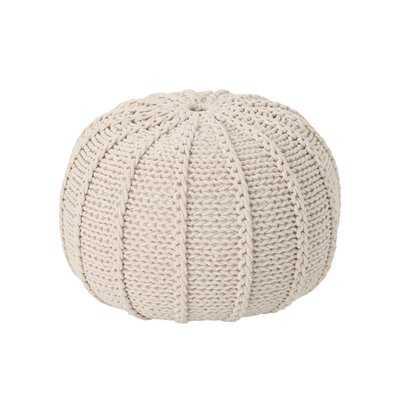 Morrow Knitted Pouf - Wayfair