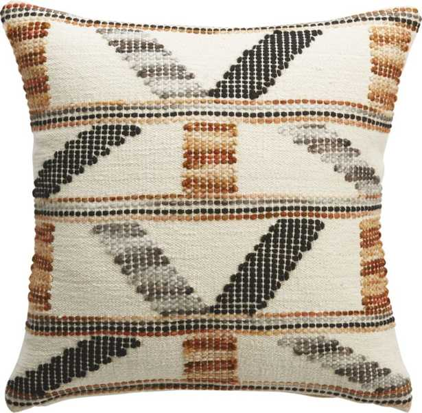 "16"" Dorado Handwoven Pillow with Down-Alternative Insert - CB2"