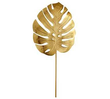 Lilly Pulitzer Gold Monstera Leaf Object, Large - Pottery Barn