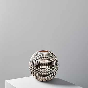 """Carved Ceramic Vase, Short, 9.5"""" - West Elm"""