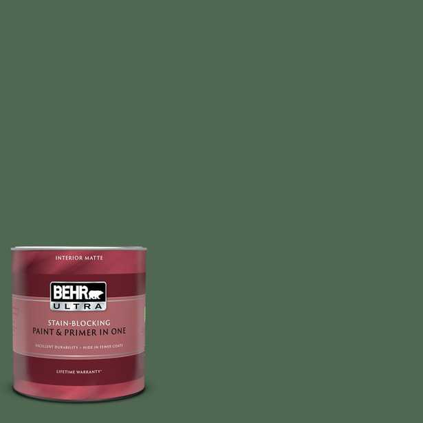 BEHR ULTRA 1 qt. #S390-7 Trailing Vine Matte Interior Paint and Primer in One - Home Depot