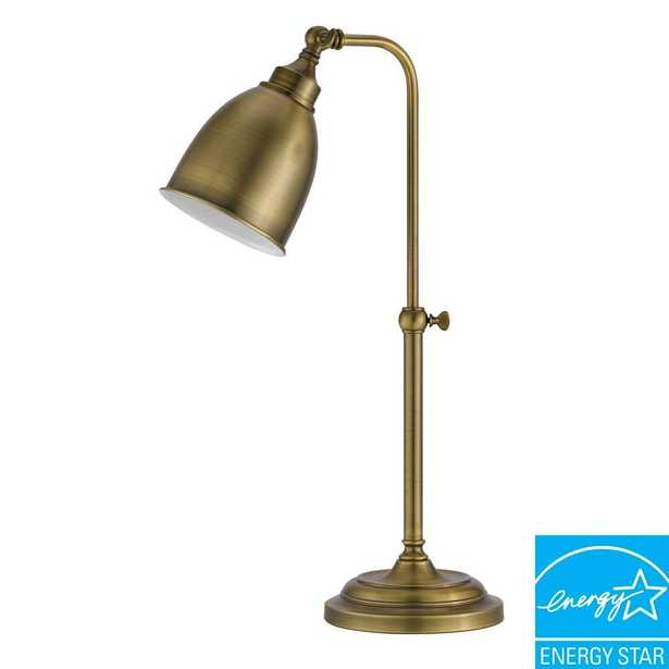 CAL Lighting 25 in. Rust Metal Adjustable Pharmacy Table Lamp - Home Depot
