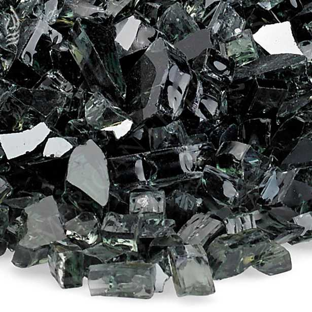 1/4 in. Black Reflective Fire Glass 10 lbs. Bag - Home Depot