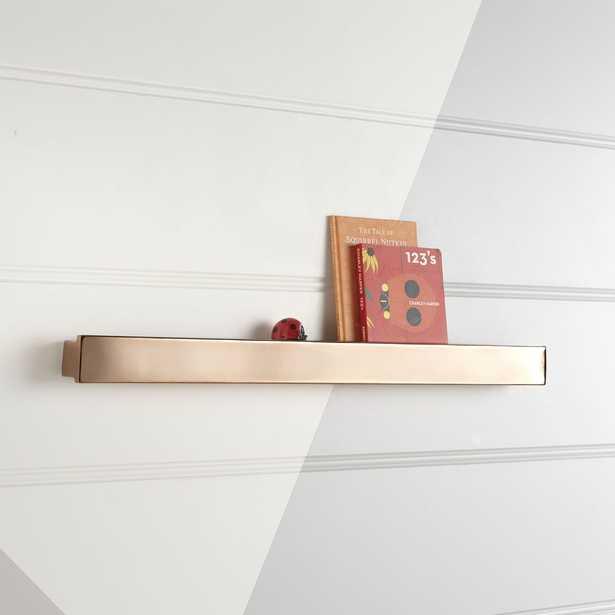 Metallic Rose Gold Wall Shelf - Crate and Barrel