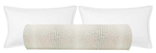 "The Bolster :: Antelope Linen Print // Cashmere - QUEEN // 9"" X 36"" - Little Design Company"