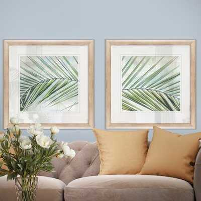 'Palm View I' 2 Piece Framed Graphic Art Set - Wayfair