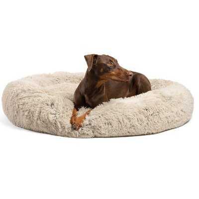 Shag Donut Round Dog Bed Luxury Plush Cuddler Pillow - Wayfair