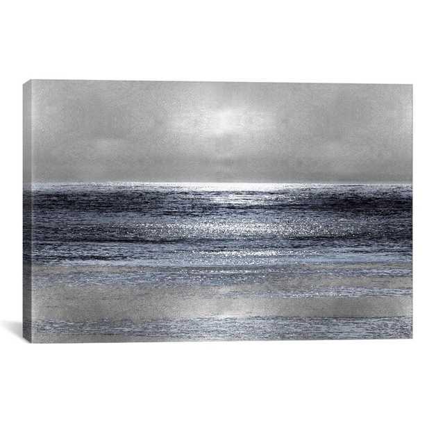Silver Seascape Iii by Michelle Matthews Canvas Wall Art, Multi - Home Depot