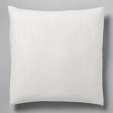 TENCEL Cotton Matelasse Euro Sham, Stone White - West Elm