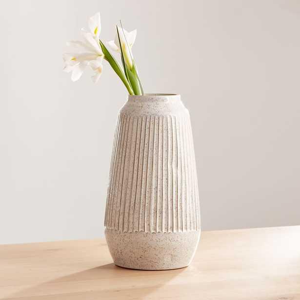 Mara Cream Vase Large - Crate and Barrel