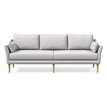 """Antwerp 89"""" Sofa, Poly, Chenille Tweed, Frost Gray, Almond - West Elm"""