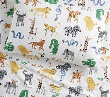 Silly Safari Sheet Set, Full, Multi - Pottery Barn Kids