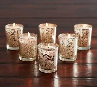 Mercury Votive Candles - Set of 6 - Pottery Barn