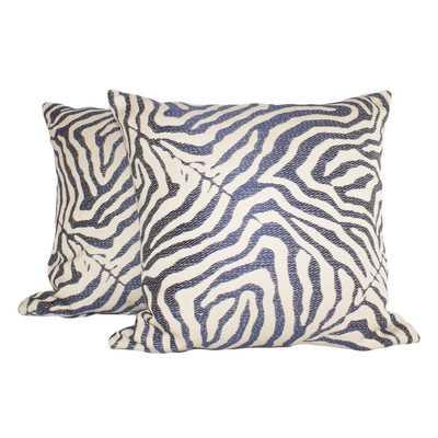 Zebra Glow Throw Pillow - set of 2 - Wayfair