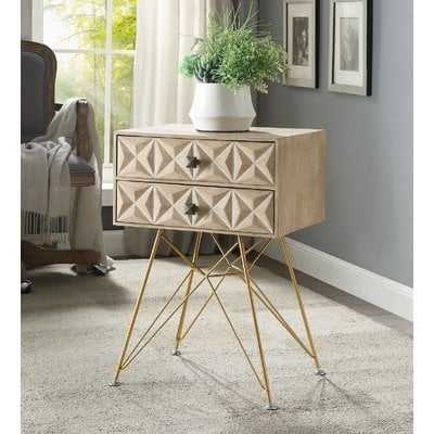 Bandit Two Drawer Accent Table - Wayfair