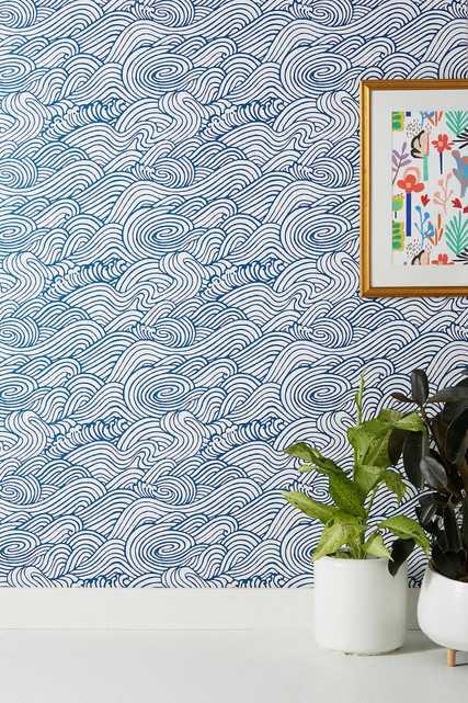 Mare Wave Wallpaper - Anthropologie