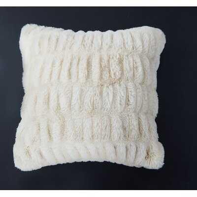 Lam Sculpted Faux Fur Throw Pillow - Wayfair