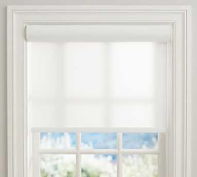 "Bali(R) Cordless Custom Roller Shade, White, 22 x 48"" - Pottery Barn"