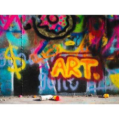 'Graffiti Pop Art' Photographic Print on Wrapped Canvas - Wayfair