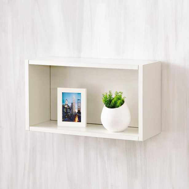 Nottingham 7.7 x 19.7 x 11.2 zBoard Wall Rectangle Decorative Floating Shelf in Pearl White - Home Depot
