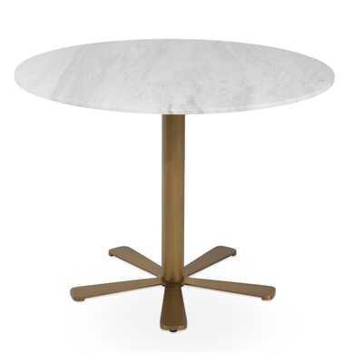 Daisy Brass Gold Marble Table - Wayfair